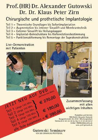 Chirurgische und prothetische Implantologie DVD 1-3